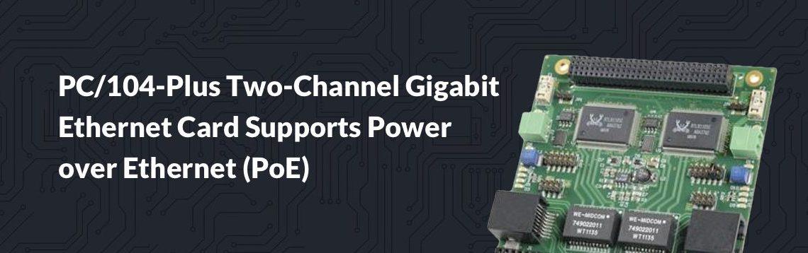 PC:104-Plus Two-Channel Gigabit Ethernet Card
