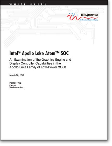Intel Apollo Lake Atom SOC - Graphics & Display Controller