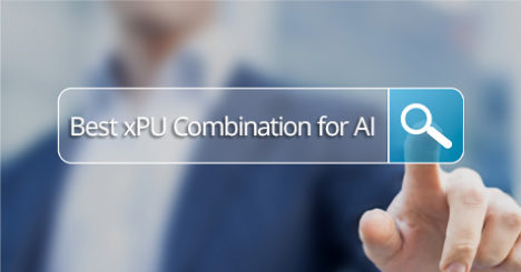 Search text window showing Best xPU Combination for Edge AI