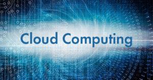 Abstract image depicting Cloud computing